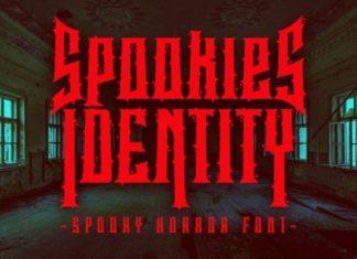 Spookies Identity Display Font