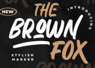 The Brown Fox Brush Font