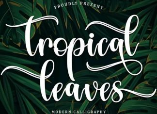 Tropical Leaves Calligraphy Font
