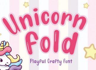 Unicorn Fold Display Font