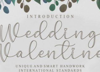 Wedding Valentine Script Font