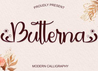 Butterna Calligraphy Font