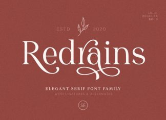 Redrains Serif Font
