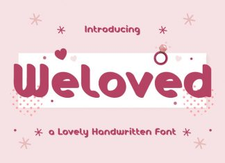 Weloved Display Font