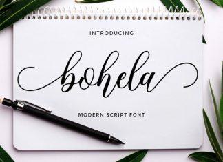 Bohela Calligraphy Font