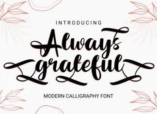 Always Grateful Calligraphy Font