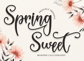 Spring Sweet Calligraphy Font