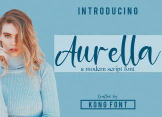 Aurella Script Font