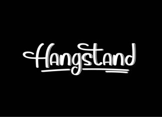 Hangstand Display Font