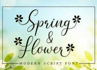 Spring Flower Calligraphy Font