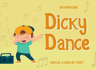 Dicky Dance Display Font