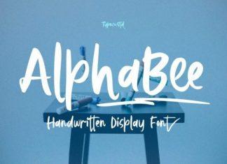 AlphaBee Brush Font