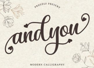 Andyou Calligraphy Font