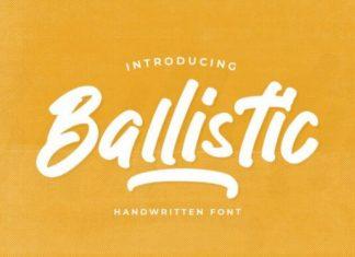 Ballistic Brush Font