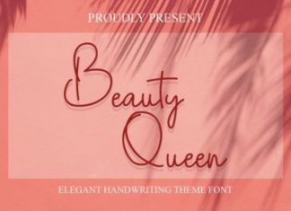 Beauty Queen Handwritten Font