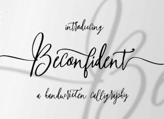 Beconfident Calligraphy Font