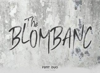 Blombanc Brush Font