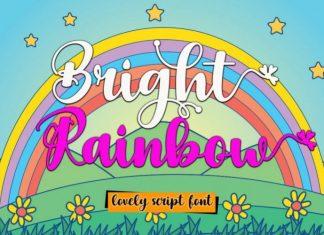 Bright Rainbow Script Font