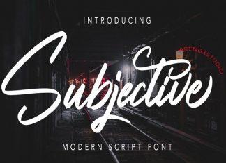 Subjective Script Font