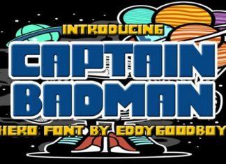 Captain Badman Display Font