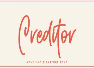 Creditor Handwritten Font