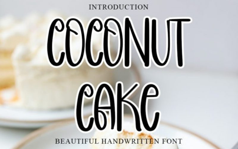Coconut Cake Display Font