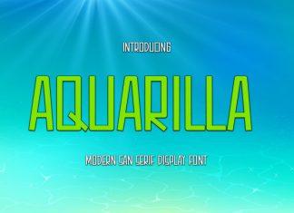 Aquarilla Display Font
