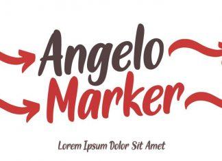 Angelo Marker Brush Font