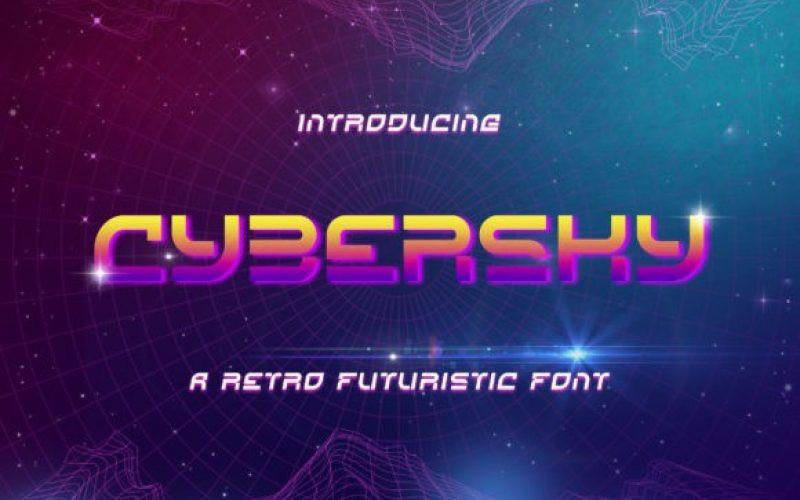 Cybersky Display Font