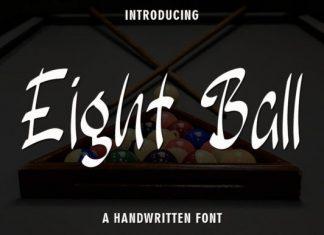 Eight Ball Brush Font