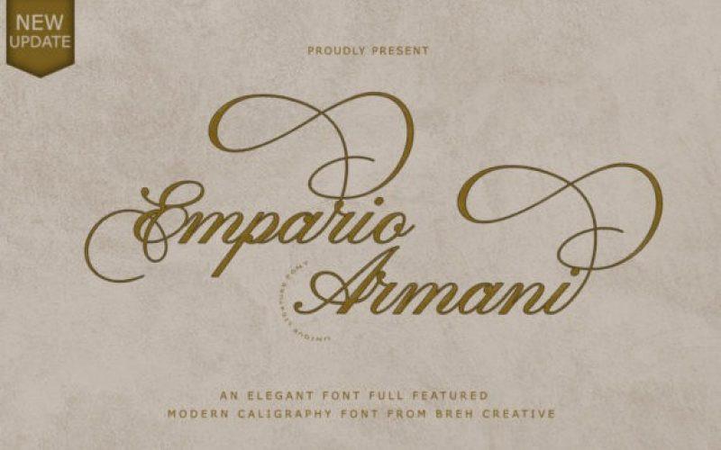 Empario Armani Calligraphy Font