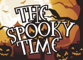 The Spooky Time Display  Font