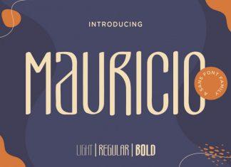 Mauricio Display Font
