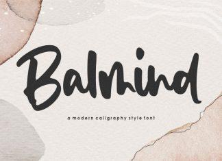 Balmind Brush Font