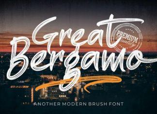 Great Bergamo Brush Font