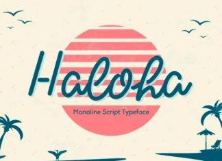 Haloha Handwritten Font