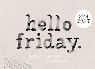 Hello Friday Display Font