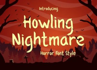 Howling Nightmare Display Font
