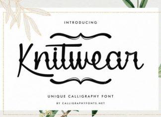 Knitwear Script Font