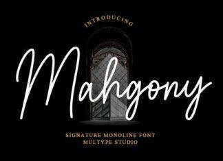 Mahgony Handwritten Font