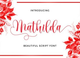 Mathilda Calligraphy Font