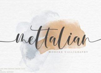 Mettalian Calligraphy Font