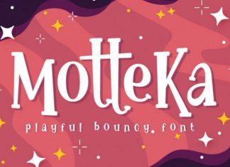 Motteka Display Font