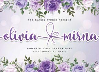 Olivia Mirna Calligraphy Font
