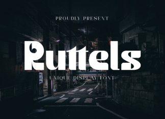 Ruttels Display Font