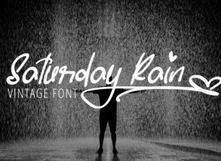 Saturday Rain Handwritten Font