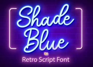 Shade Blue Script Font
