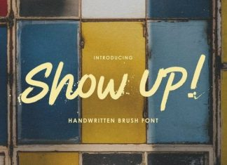 Show Up Brush Font