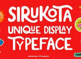 Sirukota Display Font