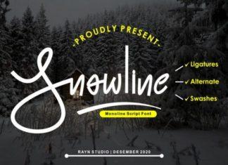 Snowline Handwritten Font